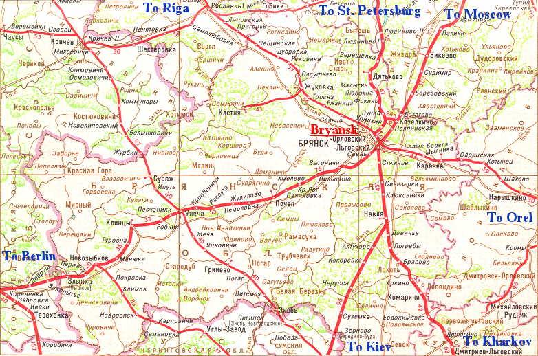 Крупномасштабная карта региона